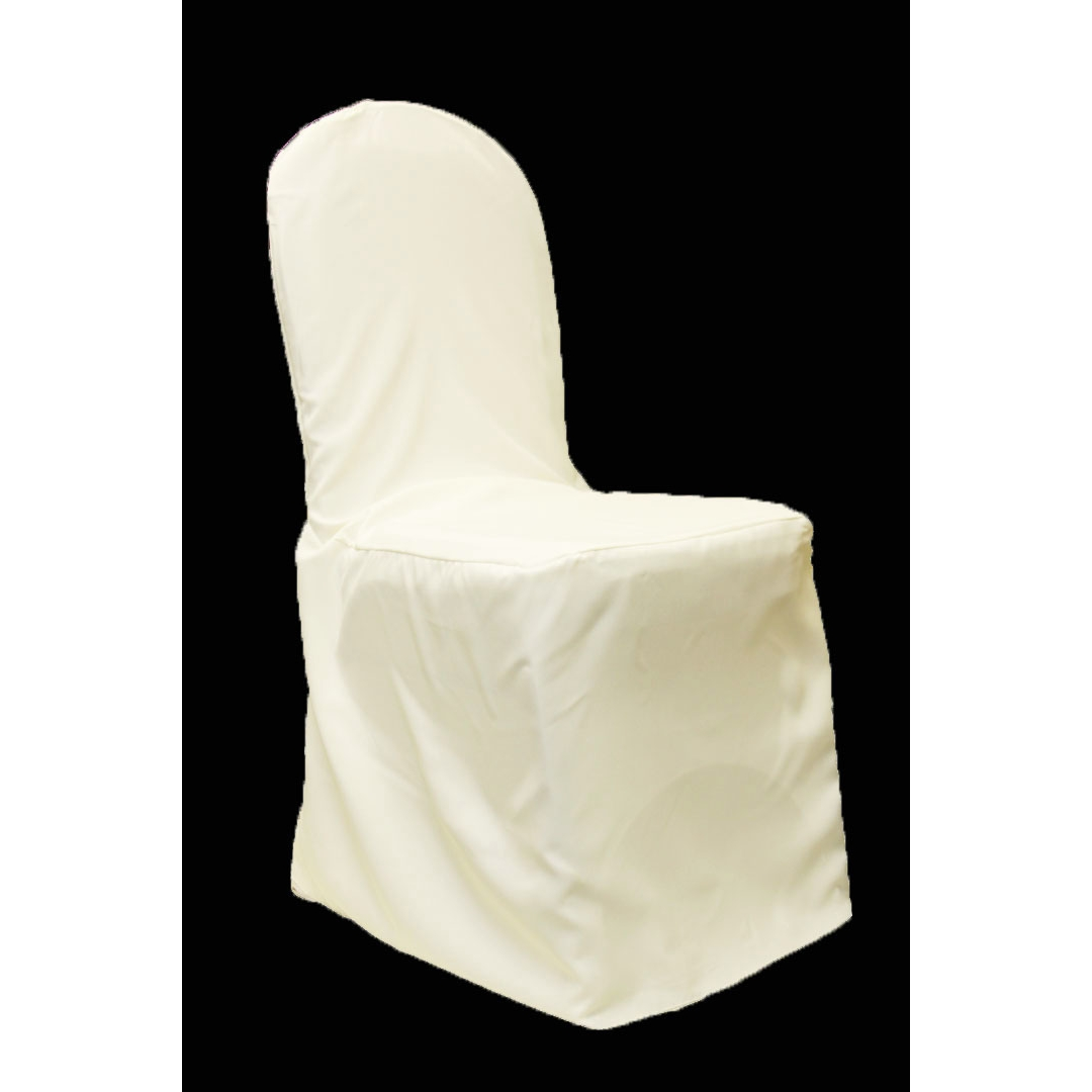 white banquet chair covers cars high polyester cover light ivory cv linens