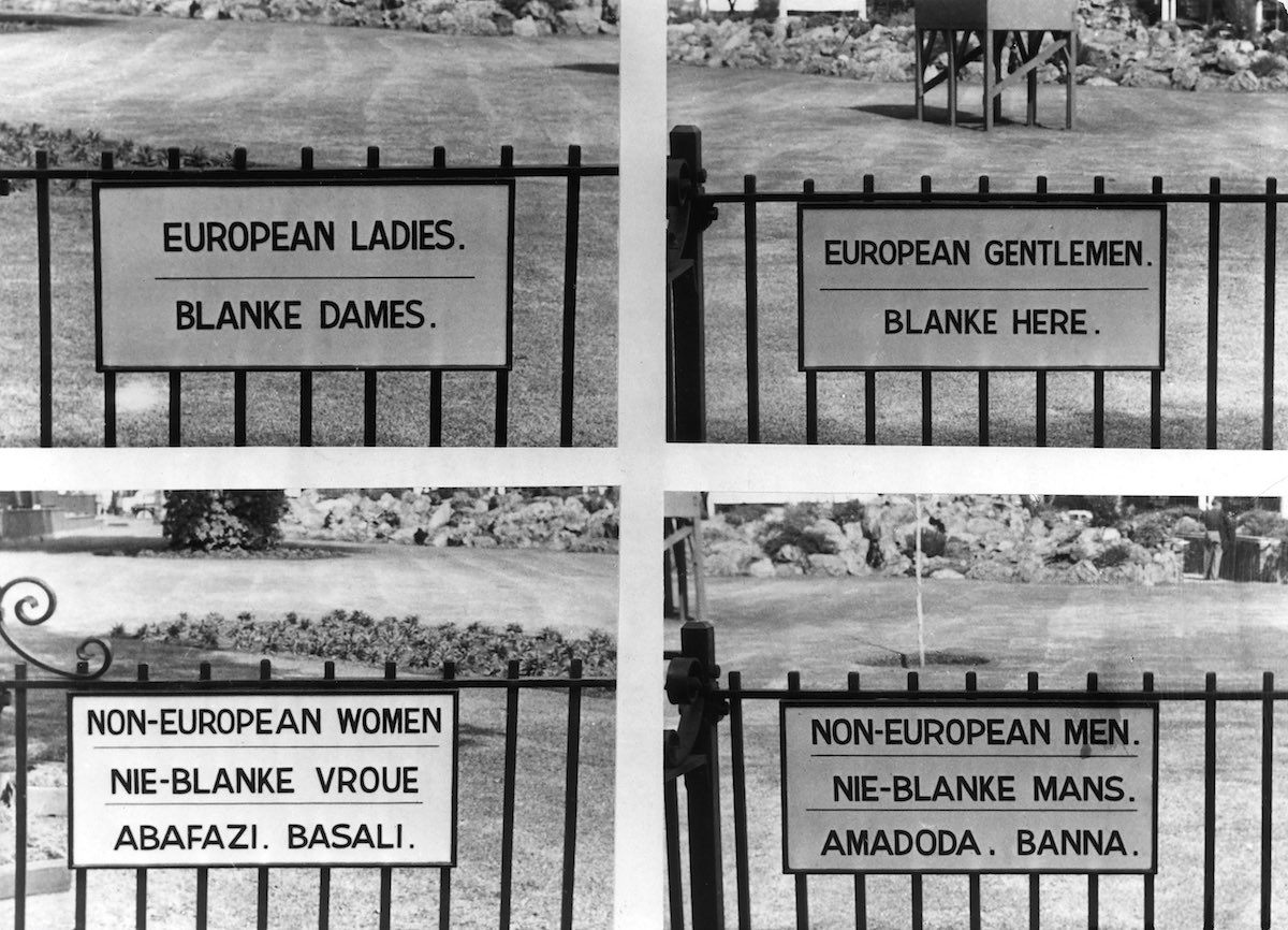 Institutionalized Hatred Signs Of Apartheid