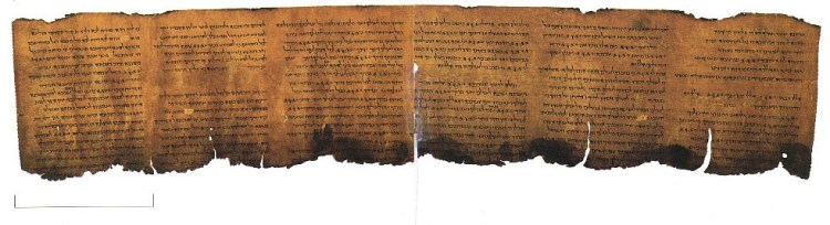 The Psalms Scroll (11Q5) from the Dead Sea Scrolls find.