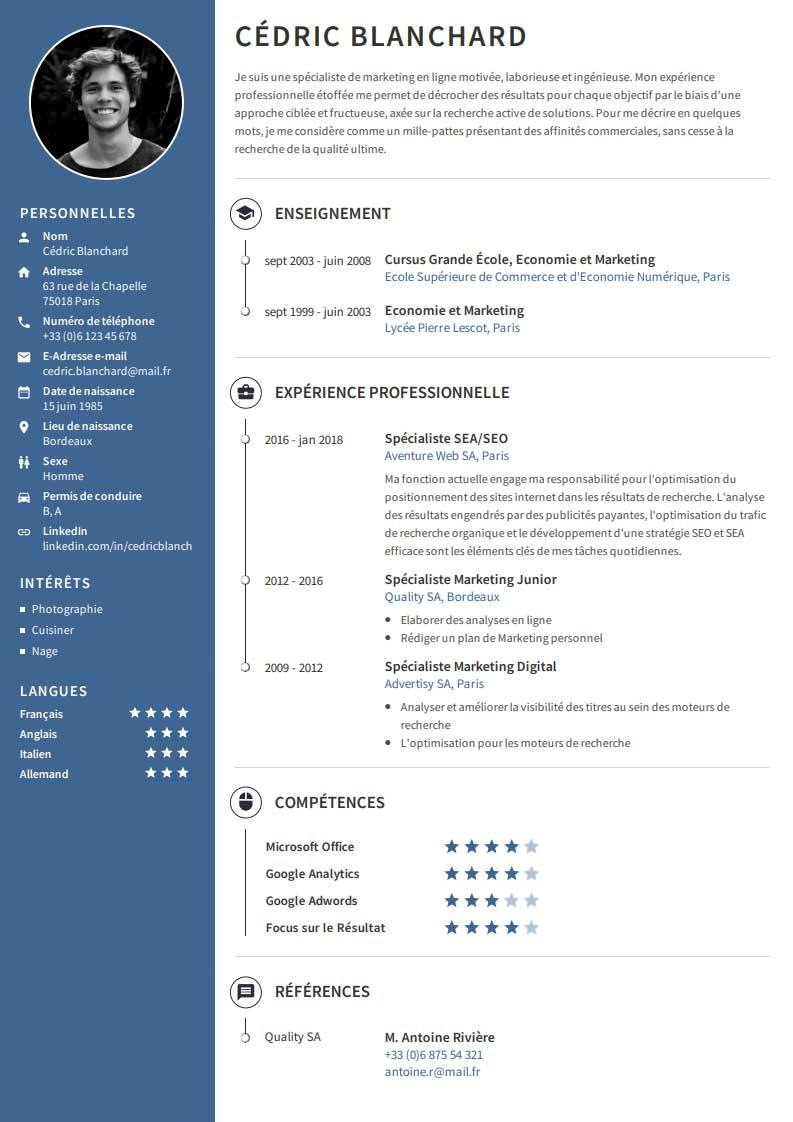Créer Un CV Professionnel? Rédiger & Télécharger CVmaker