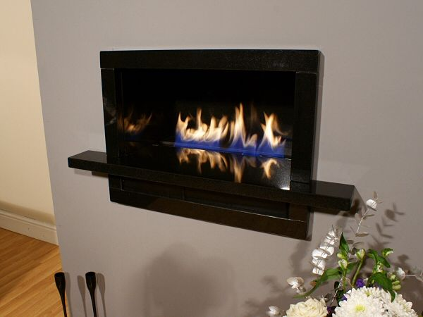 BORDINO Black Granite Hole in the Wall Fireplace – Image Gallery