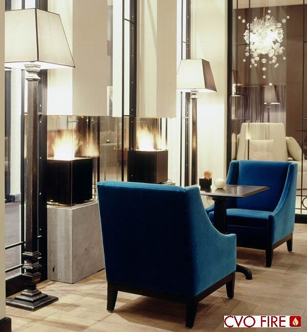 Carlton, Dominican Hotel, Brussels, Belgium Cube Gas Fire Design by CVO Fire UK