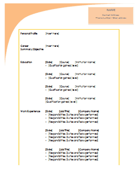 Different Resume Templates ]   Different Resume Templates, Different ...