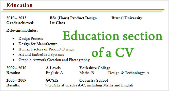 howtowriteeducationsectioncv