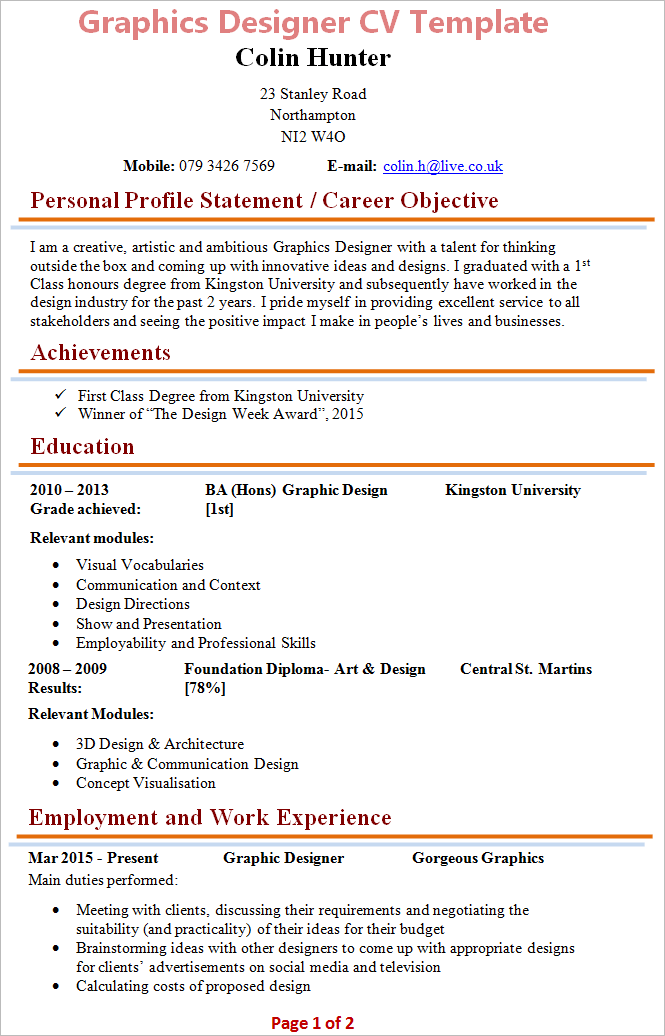 Free Cv Uk Templates Microsoft Word Sample Customer Service Resume