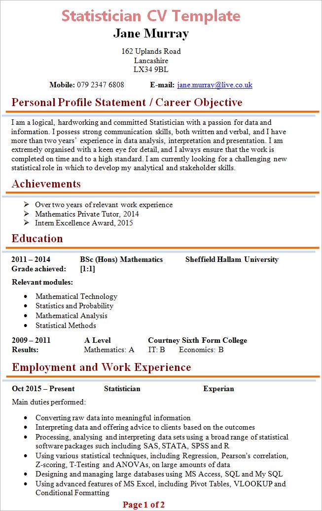 sample blank resume pdf
