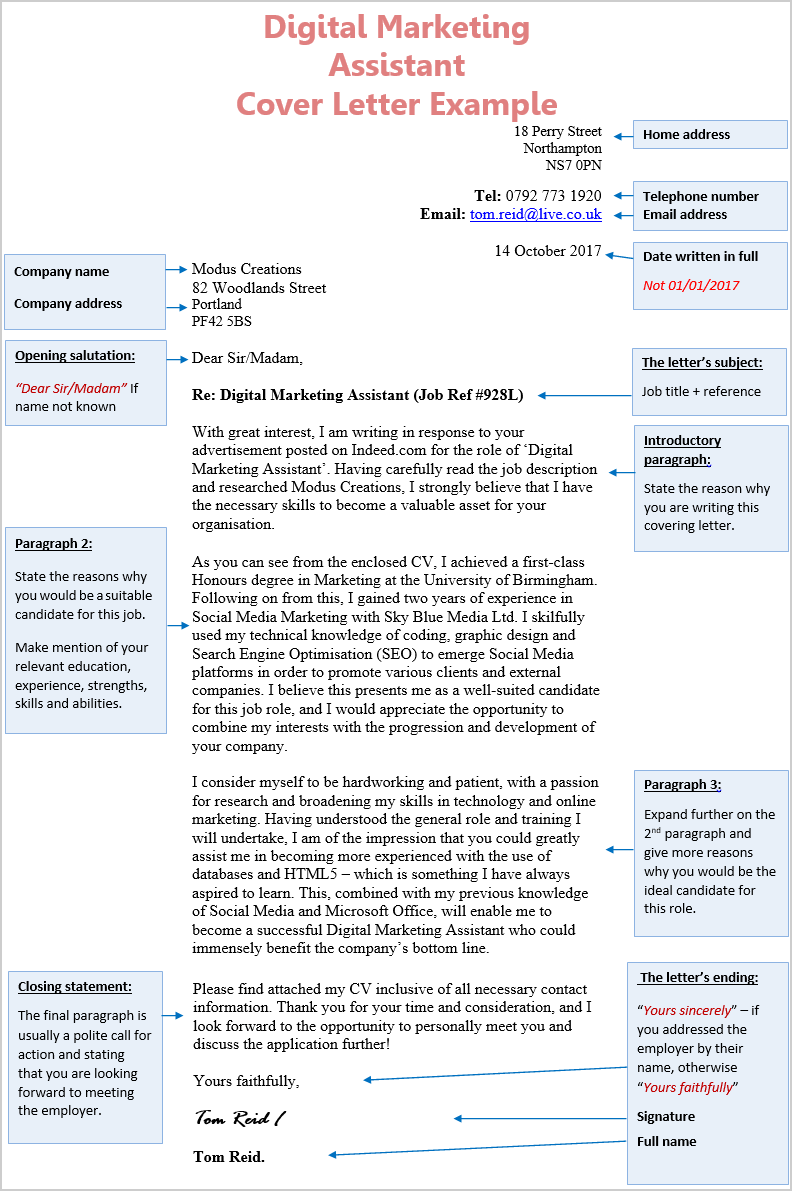 Cover Letter Digital Forensic Examiner