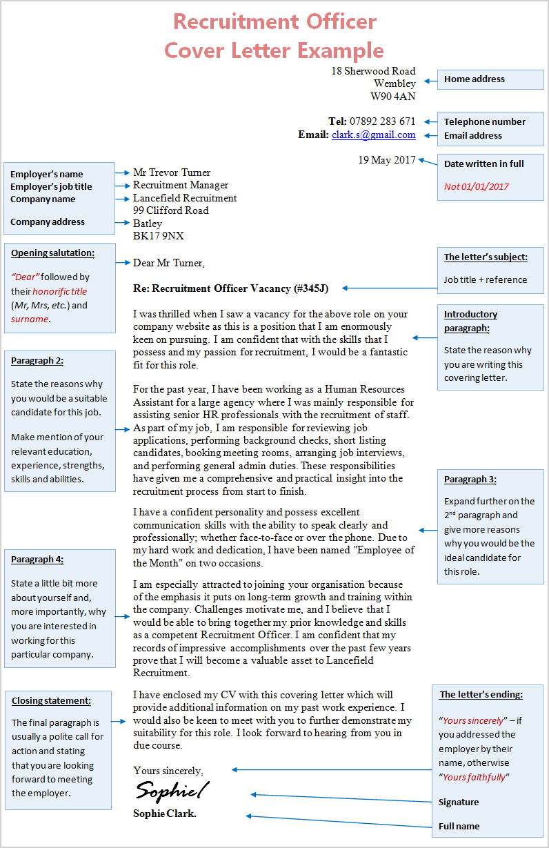 Cover Letter Knowledge Worker
