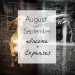 August & September 2016 Income and Expenses
