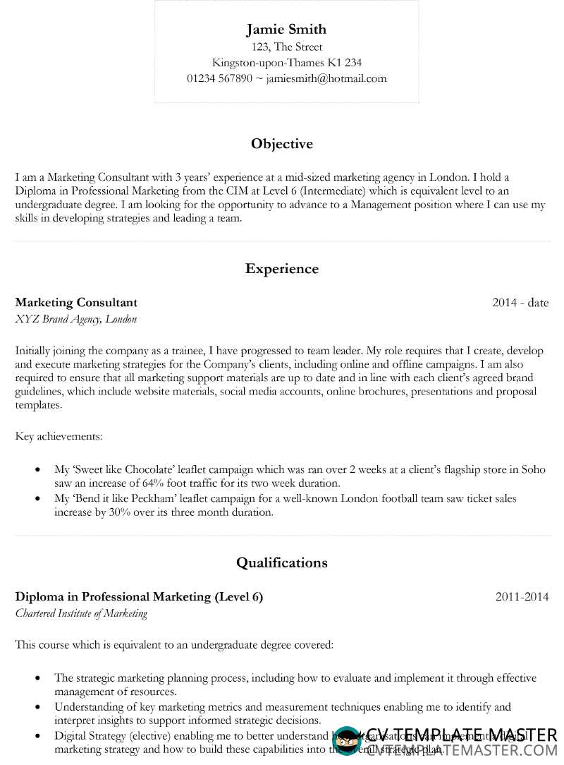 Basic CV Template 2018 In Microsoft Word CV Template Master