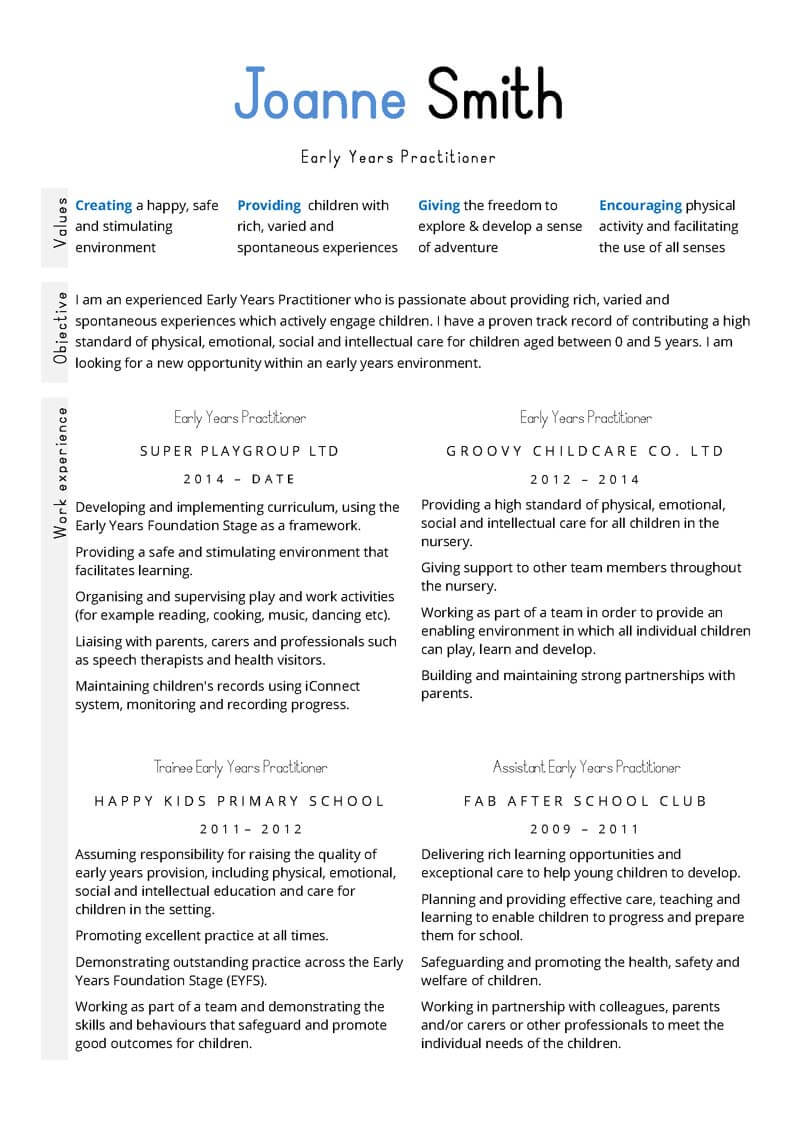 Teacher CV Examples Templates And Guidance CV Template