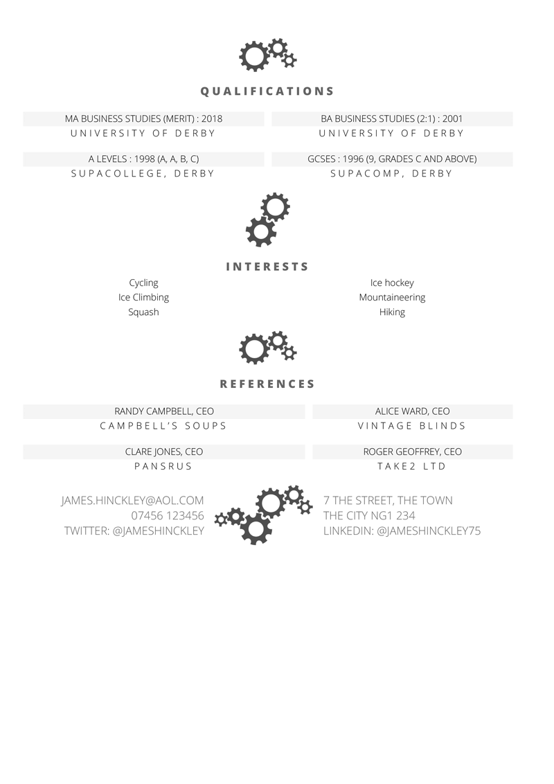 Business Manager CV : free Word CV template with example