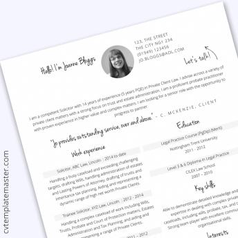 CV template: 222 free professional Microsoft Word CV
