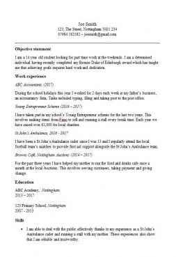 Basic CV Templates In Microsoft Word Format No