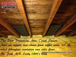 Minneapolis Ice Dam Prevention- Insulation Instalation-