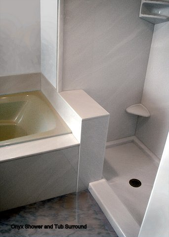 Onyx Collection white shower