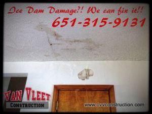 MN Ice Dam Damage Repairs