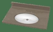 Bathroom Contertops, Matching to shower walls and base, Custom bathroom tops