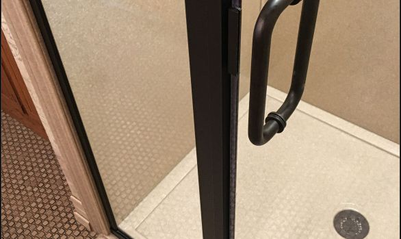 Oil rubbed bronze shower door replacement