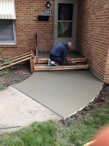 concrete step replacement project