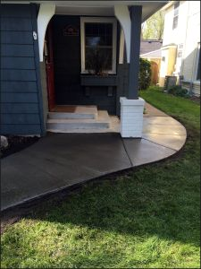 curved cement sidewalk replacement