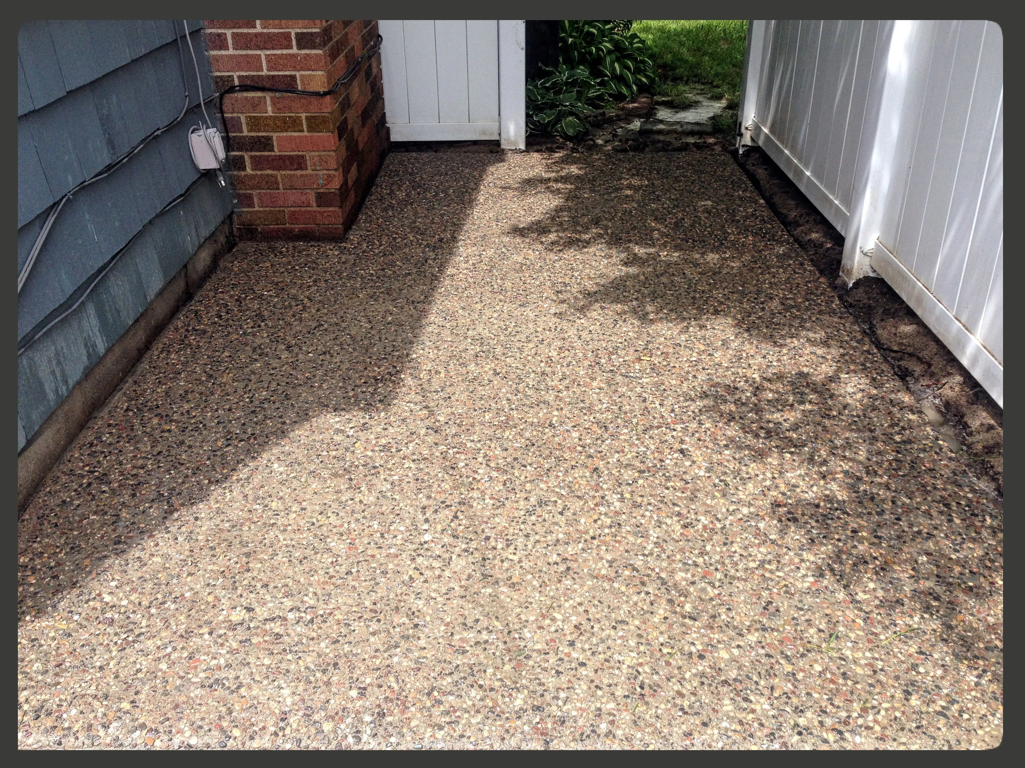 exposed aggregate cement patio St. Paul, MN