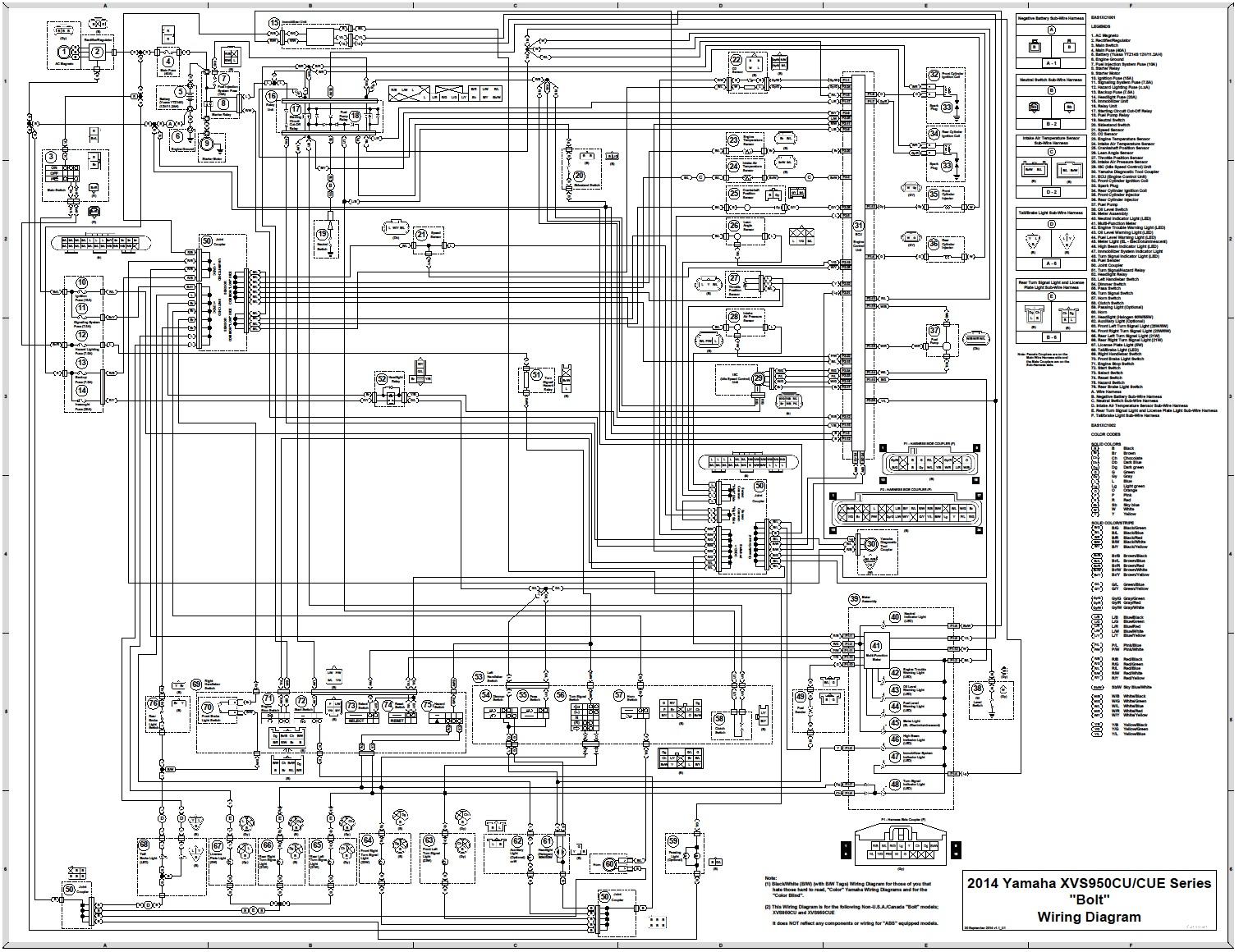hight resolution of yamaha bolt wiring diagram wiring diagram imp yamaha bolt wiring diagram