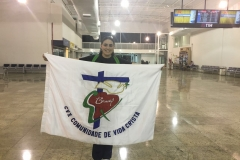 Paola no aeroporto bandeira 2