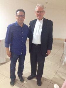 Josedir (CVX Dom Hélder Câmara - DF) e Dom Leonardo Ulrich Steiner, Bispo Auxiliar de Brasília.