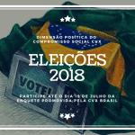 CVX Brasil promove enquete sobre as eleições 2018. Responda e participe!