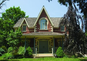 Front View of residence on Derry Road, Mississauga by Chris Wallace Architect