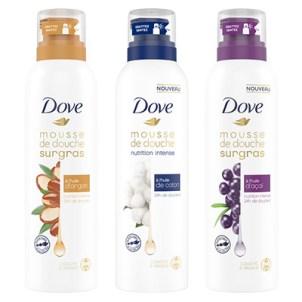 Dove – Mousses de douche surgras 0,60 € DE RÉDUCTION
