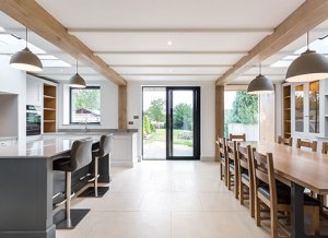 kitchen extension build project somerset