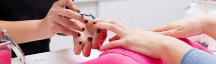 Nails being painted