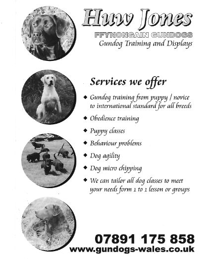Carmarthenshire Working Gundog Society Schedules