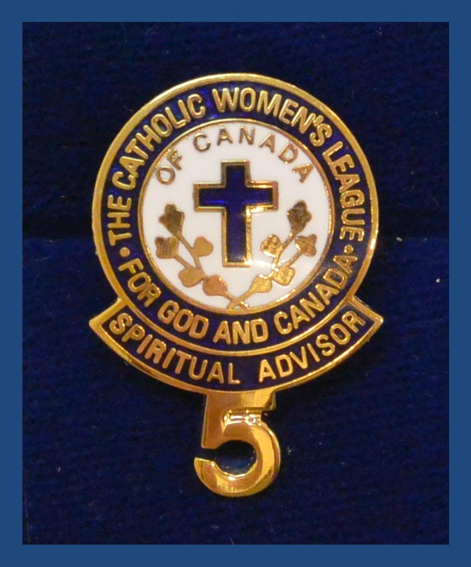 200 Series Certificates and Pins  The Catholic Womens