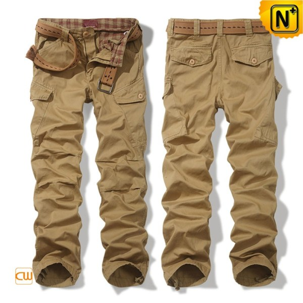 Mens Cotton Cargo Pants Khaki Cw100033