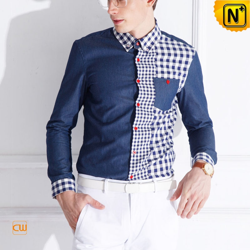 Mens Fashion Long Sleeve Cotton Shirts CW114530