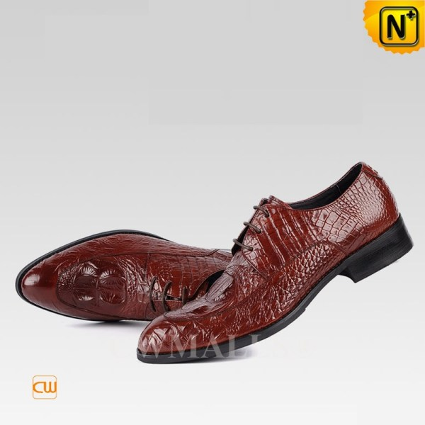 Embossed Leather Derby Shoes Cw707053