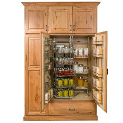 Storage Cabinets For Kitchen Antique Brass Faucet Pantry And Food Solutions Custom Wood