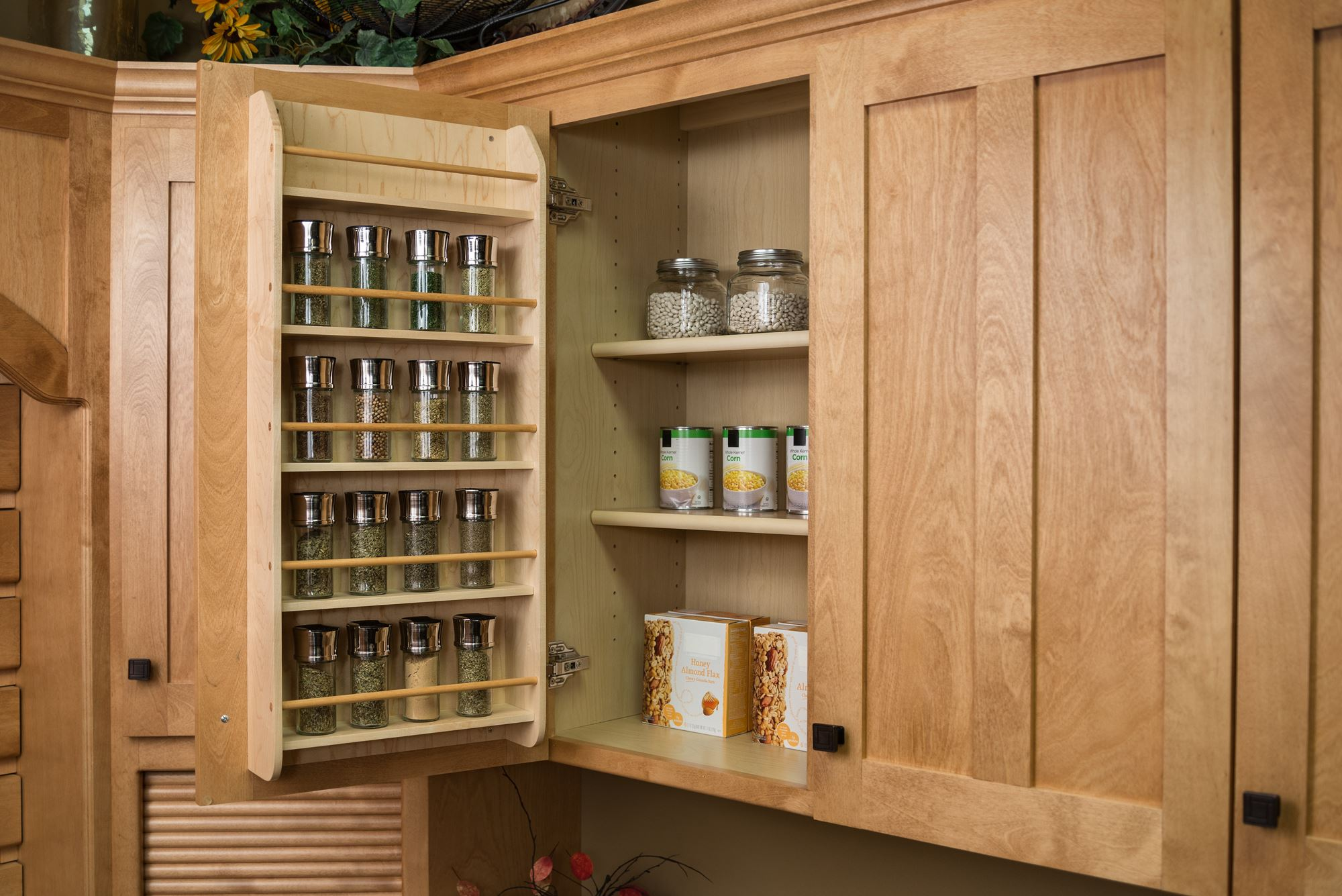 kitchen cabinet spice rack raised panel cabinets door wood  roselawnlutheran