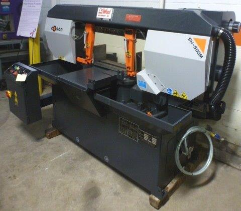 COSEN SEMI-AUTOMATIC MITER CUTTING HORIZONTAL BAND SAW - 29597