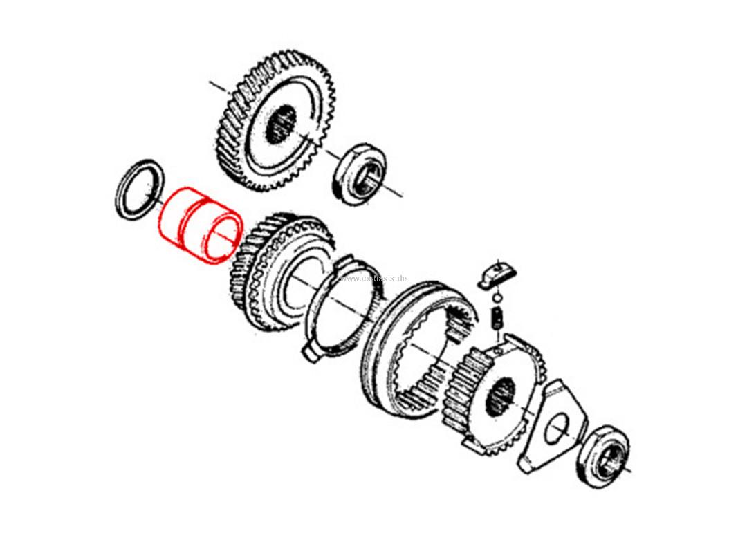 Lagerhülse Getriebe CX (12/85->6/89) BV5 5. Gang gebr