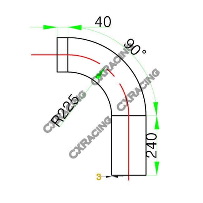 Mandrel Bent Alum Intercooler Intake Turbo pipe 5