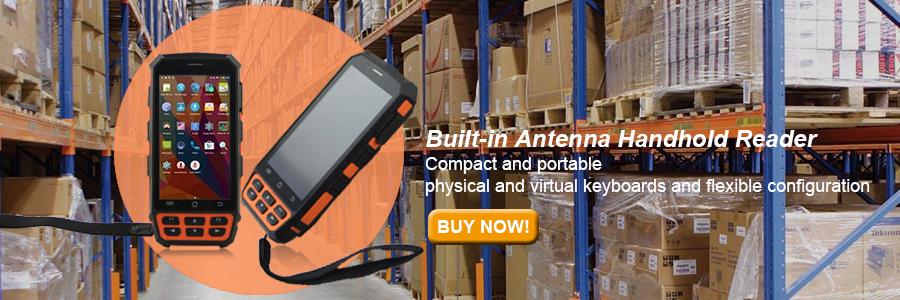 Bluetooth UHF RFID Reader Android Handheld Reader 1D/2D