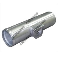 "2.5"" Polished Aluminum Sensor Pipe , 2.5"" O.D., 9"" Long ..."
