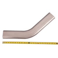"3"" Oval 45 Degree 304 Stainless Steel Pipe 16 Gauge"