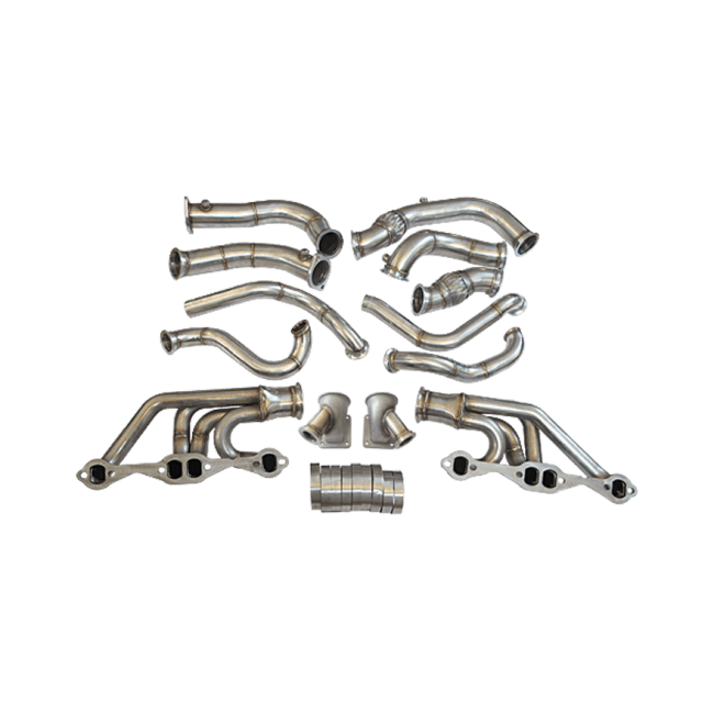 Twin Turbo Header Manifold Downpipe Kit For 63-67 Chevelle