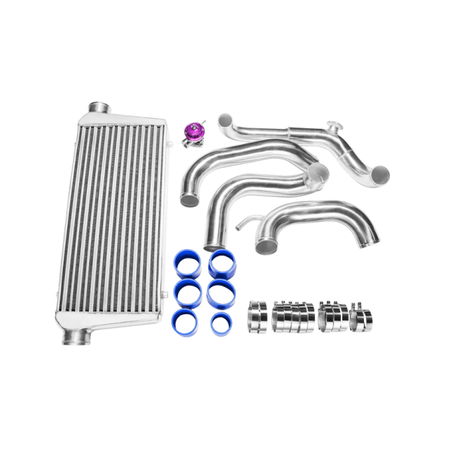 Tube & Fin FMIC Intercooler Piping Kit + BOV For 89-99