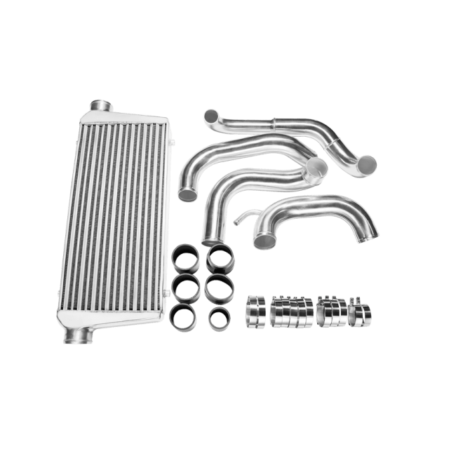 Tube & Fin FMIC Intercooler Piping Kit For 89-99 Nissan